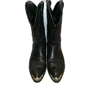Laredo cowboy boots black with metal toe size 10